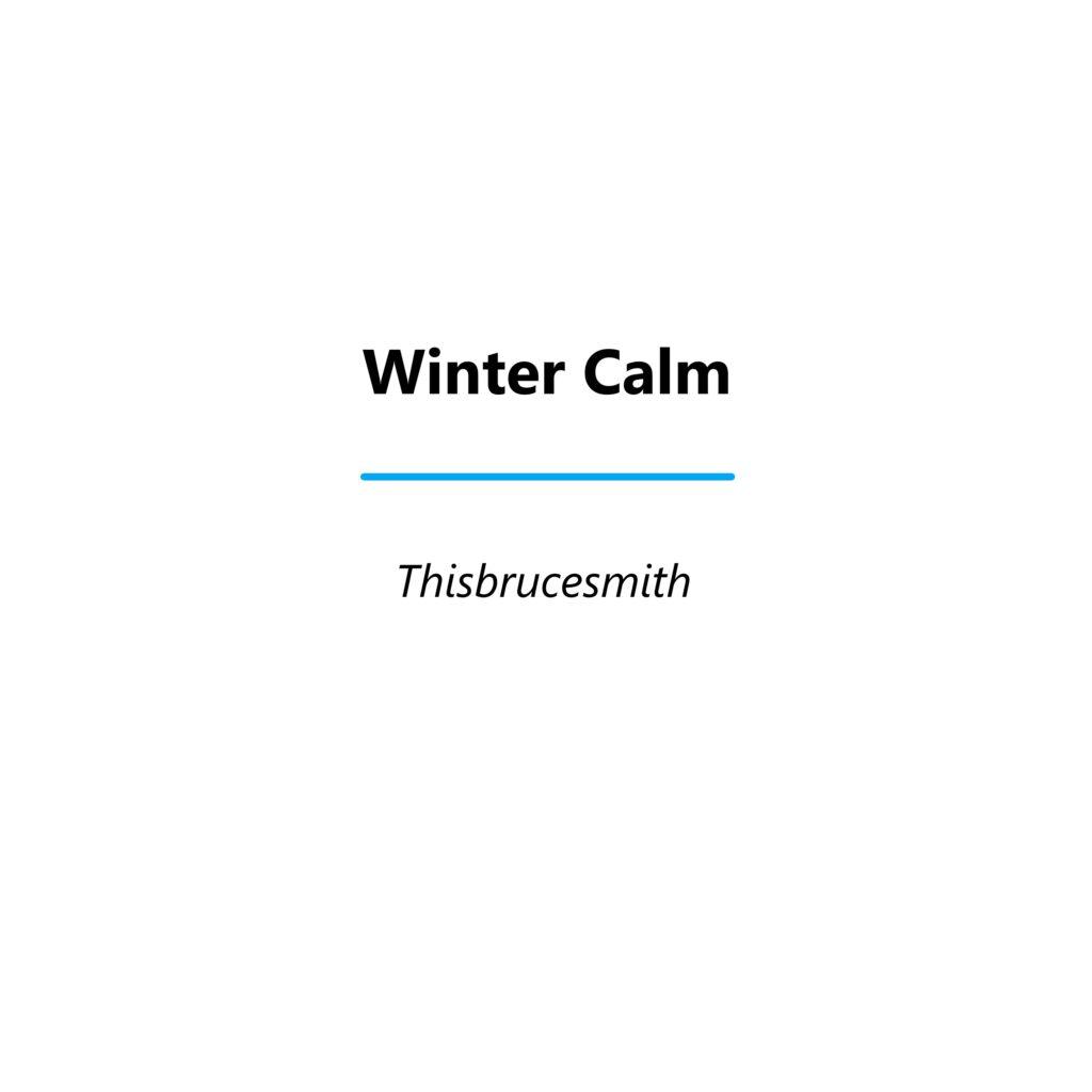 Winter Calm EP cover